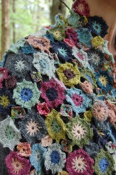 Ravelry: Crocheted Flower Shawl pattern by Kathleen Gittleman