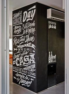 Black & White Kitchen by Yani Arabena & Guille Vizzari, via Behance