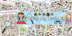 I Spy With My Little Eye Activity Pack - activity, pack, I spy