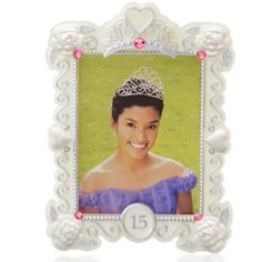 "Hallmark Quinceañera Keepsake Ornament frame. Hallmark Quinceañera - Her Quinceañera was a party she'll never forget. Honor the magic surrounding her special milestone birthday by adding her photo to this Keepsake Ornament frame. •On ornament: 15 •Holds photo. •Includes stickers to personalize ornament. •Dated. •2.88"" W x 3.75"" H x 0.5"" D Hallmark Accessories"