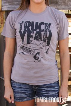 """Say """"Truck Yeah"""" to our comfy country music tee! Available for guys and gals at tumbleroot.com"""