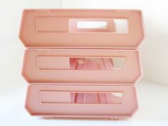 Desk Supplies Right Out of the 1970s - Pink Plastic Desk Organizer - Back to School - Dorm Room Stuff - Desk Accessory - Set of Three