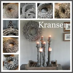 Kransen | Tips: http://www.jouwwoonidee.nl/kerstkrans-maken/