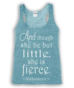 Take a look at this Urban Smalls Heather Turquoise Shakespeare Racerback Tank - Toddler & Girls today!