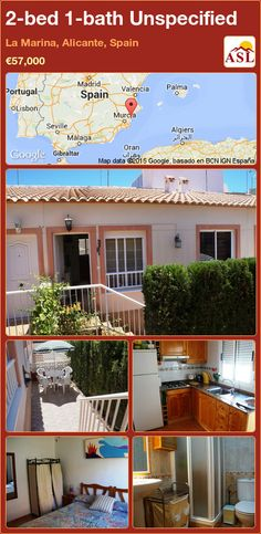 Townhouse for Sale in La Marina, Alicante, Spain with 2 bedrooms, 1 bathroom - A Spanish Life Valencia, Charming House, Alicante Spain, Private Garden, Open Plan Kitchen, Double Bedroom, Townhouse, Terrace, Things To Come