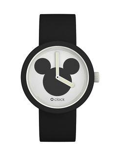O clock topolino icona con cinturino nero