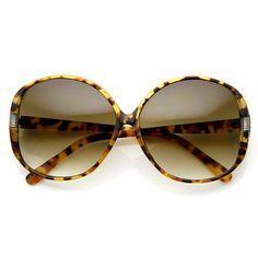 Womens Circle Round Oversize Fashion Sunglasses 8816