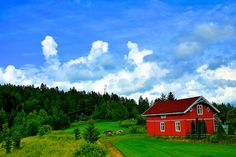 Norwegian country side scene. Like a painting! Come visit us! :-)