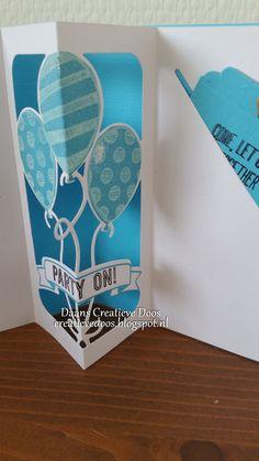 Hoi hoi        Daar ben ik weer een keer.     Van de week ben ik begonnen met mijn nieuwe Balloon Pop-up Thinlits Dies uit te proberen. Gis...