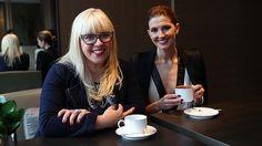 Love the glasses on Catherine Martin (left).
