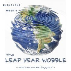 2016 is more than just a 9 global year. It is also a Leap Year, which has 366 days instead of the usual 365. Every four years, an extra day is inserted at the end of February so that the calendar ....    https://creativenumerology.wordpress.com/2016/02/28/2016-and-the-leap-year-wobble/