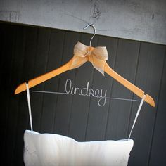 Personalized Rustic Wedding Hanger for Bride or Groom, LOVE!