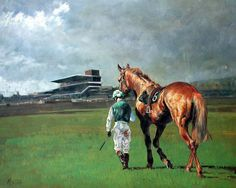 The Long Walk Home Limited Edition Horse Racing Print by Equestrian Artist Malcolm Coward