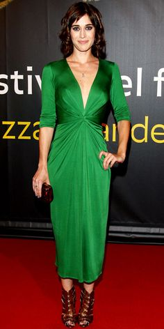 Look of the Day - August 8, 2012 - Lizzy Caplan in Issa from #InStyle