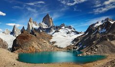 Laguna de Los Tres and mount Fitz Roy, Los Glaciares National Park, Patagonia, Argentina. Photographer Dmitry Pichugin From Russian Federation