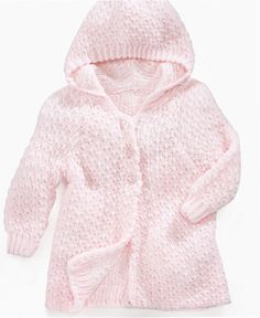 First Impressions Baby Sweater, Baby Girls Hooded Cardigan - Kids Baby Girl (0-24 months) - Macy's