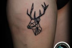 Tattoo geometric is a good choice for a small tattoo. A good suggestion for women tattoo.