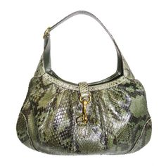 1stdibs.com | Gucci Jackie O Large Python Shoulder Bag