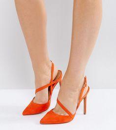 Lost Ink GINGER CUT VAMP COURT - High heels - orange Ft0DXxO6mt