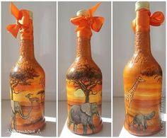 Itens de decoração Decoupage cracelures eu estudo garrafas de vidro decoupage Guardanapos foto 4