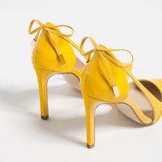 Image 5 of HIGH HEEL SHOES WITH BOW from Zara
