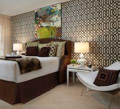 Eclectic Townhome - Master Bedroom -  Adelene Keeler Smith Interiors