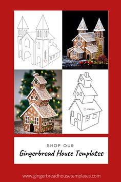 Check out our printable and easy to use Gingerbread Houe Templates Christmas Gingerbread House, Christmas Sweets, Christmas Baking, Winter Christmas, Christmas Crafts, Christmas Decorations, Gingerbread Houses, Gingerbread House Template Printable, Clay Fairy House