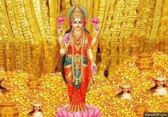 Lakshmi Devi The goddess of wealth and prosperity is also the consort of lord Vishnu.Buy Lakshmi Devi Gold Idol from devotional store. Indian Goddess, Goddess Lakshmi, Divine Goddess, Lakshmi Photos, Lakshmi Images, Money Images, Money Pictures, God Pictures, Lord Balaji