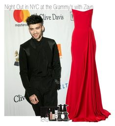 """Night Out at the Pre Grammy's with Zayn"" by elise-22 ❤ liked on Polyvore featuring Alex Perry, Smashbox, Giuseppe Zanotti and ASOS"
