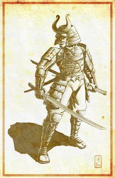 Samurai digital drawing