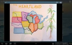 Waldorf ~ grade ~ US Geography ~ main lesson book 5th Grade Geography, Teaching Geography, World Geography, North America Geography, Middle School History, States And Capitals, 5th Grade Social Studies, Fifth Grade, 5th Grades