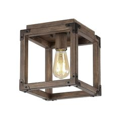 Our square open ceiling light is ideal for your modern farmhouse, rustic kitchen or industrial interior design. Features an Edison-style LED bulb inside a barnwood-finished frame, accented with oil rubbed bronze. This rustic light fixture is perfect for the living room, kitchen, entry, hallway or bedroom. Led Recessed Ceiling Lights, Open Ceiling, Industrial Interior Design, Industrial Interiors, Rustic Kitchen, Rustic Farmhouse, Room Kitchen, Farmhouse Lighting, Rustic Lighting