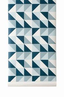 Remix geometric wallpaper in shades of blue #wallpaper #geometric