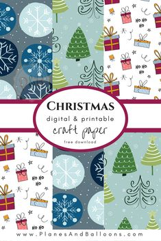 This printable Christmas paper is beautiful! Perfect for scrapbooking, backgrounds, Christmas decorations and more.