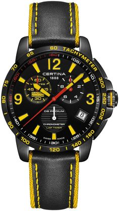 Certina Watch DS Podium Chrono Lap Timer Watch available to buy online from with free UK delivery. Amazing Watches, Beautiful Watches, Cool Watches, Unique Watches, Affordable Watches, Casual Watches, Men's Accessories, Apple Watch Fashion, Latest Watches
