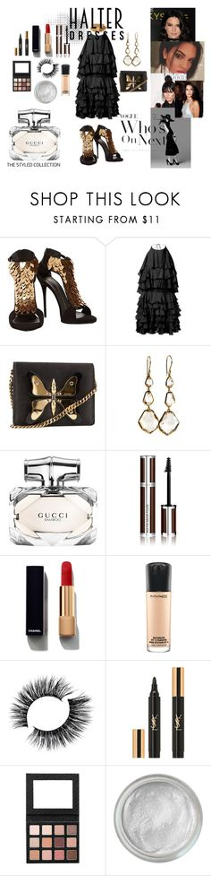 """Dressing kendall jenner"" by style-by-j ❤ liked on Polyvore featuring Giuseppe Zanotti, Balmain, Gucci, Ippolita, Givenchy, Chanel, MAC Cosmetics, Yves Saint Laurent and Silver Lining"