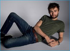 Douglas Booth wears Express' stretch performance jeans for the brand's fall-winter 2016 campaign.