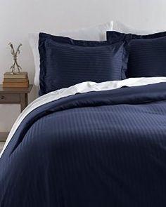 HLC.ME Venice Hotel Ultra-Soft Woven Stripe Duvet Set (Full/Queen, Navy) -   - http://homesegment.com/home-kitchen/hlcme-venice-hotel-ultrasoft-woven-stripe-duvet-set-fullqueen-navy-com/