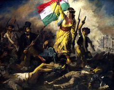 Liberty is leading People, Eugene Delacroix. Photo shopped by Rebwar K Tahir. سەربەستی رابەرایەتیی گەل دەکات ....!