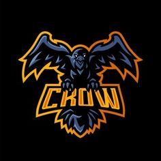 Bird mascot logo Vectors, Photos and PSD files Crow Logo, Logo Animal, Feather Background, The Crow, Eagle Art, Animal Symbolism, Game Logo Design, Esports Logo, Sports Team Logos