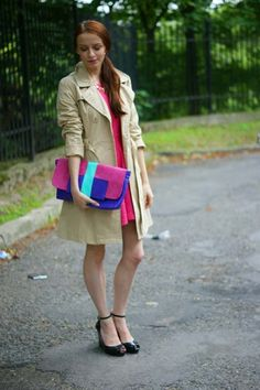 Martyna from Modna Komoda wearing a trench La Redoute