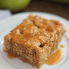 Healthier Caramel Apple Cake Recipe
