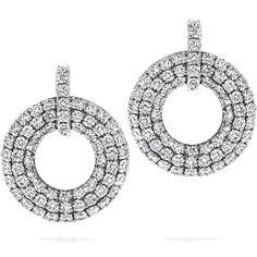Silk Pave Open Circle Earrings #myHOFwishlist