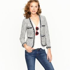 J Crew terrazo tweed jacket  (Very Chanel... and very much more affordable)