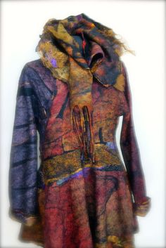 Nuno Felted ButterflyJacket Size M/L  a by sugarplumoriginals, $1500.00 Jean  Gauger design