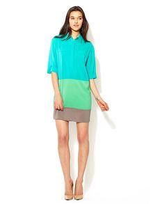Color Block Shirt Dress