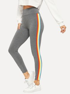1b80b80055303 21 Best Striped Leggings images in 2015 | Stripes, Moda femenina ...