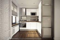 Дизайн кухни в квартире студии 45 кв м