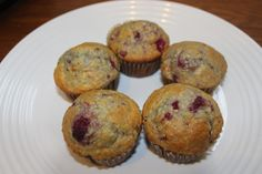 Easy Raspberry and Apricot Spelt Muffins (sugar- and dairy-free)