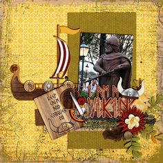 Layout using {I Am A Viking} Digital Scrapbook Kit by Meagan's Creations http://www.thedigichick.com/shop/I-am-A-Viking-the-Collection-Bundle-by-Meagan-s-Creations.html http://www.gottapixel.net/store/product.php?productid=10012286&cat=0&page=1